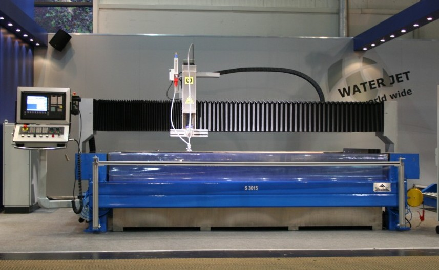 Water jet cutting uses high pressure water to cut softer